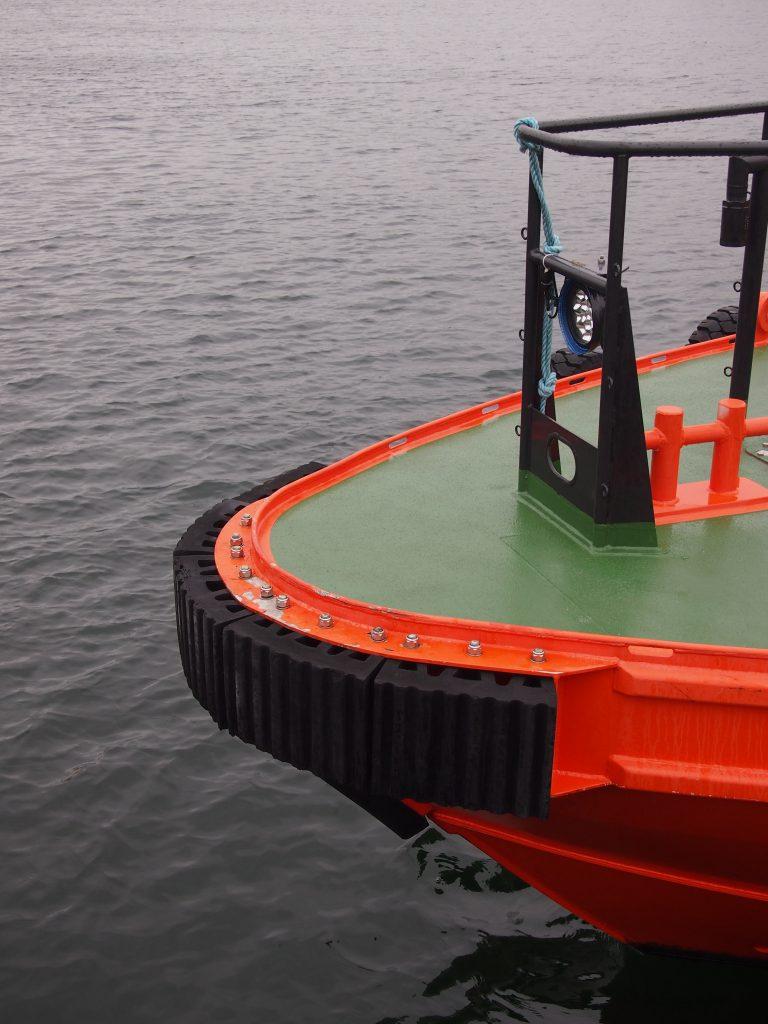 PsG M fender on working boat