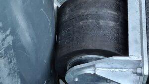 PsG rullfender med dämpande gummikuddi